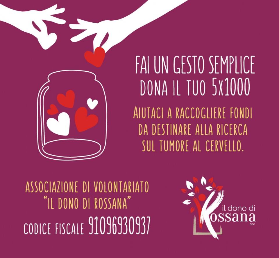 """Fai un gesto semplice, dono il tuo 5 x mille a """"Il dono di Rossana"""""""