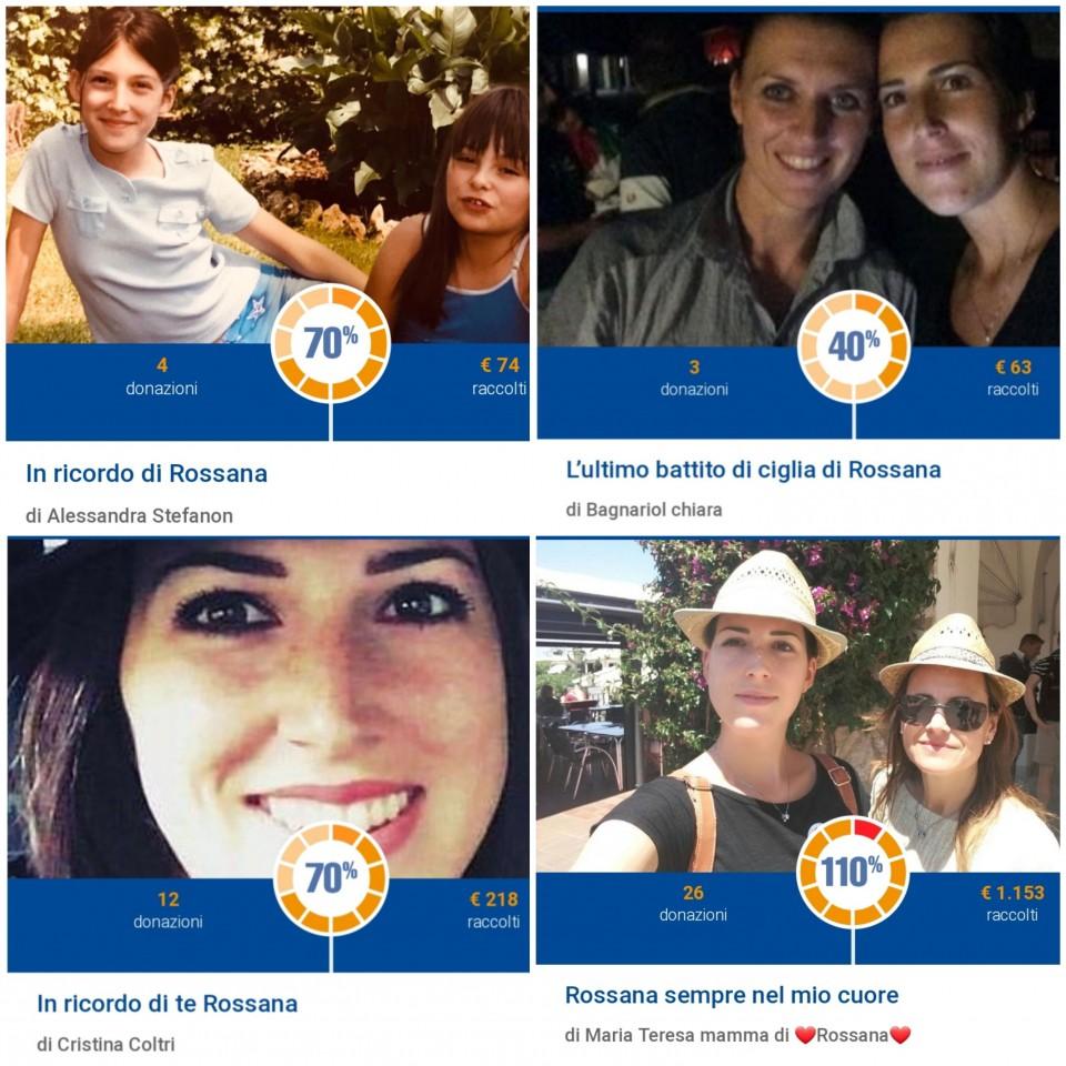 La raccolta fondi online per ricordare Rossana