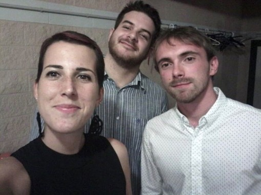 Rossana con gli amici Riccardo e Martino nel 2016