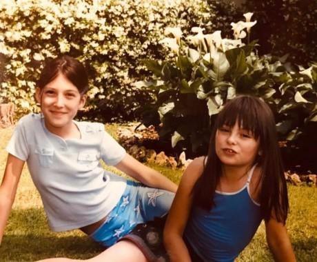 Rossana e la cugina Alessandra nel 2003